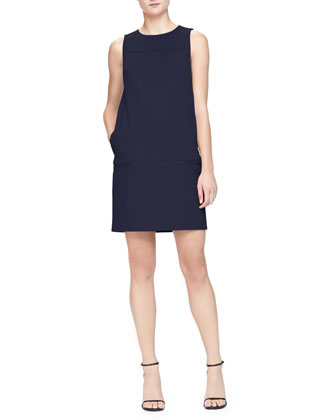 Sleeveless Shift Dress with Pockets, Hyacinth