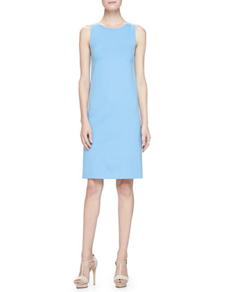 Milano Jersey Sheath Dress, Topaz