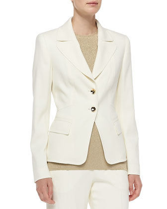 Long-Sleeve Two-Button Blazer