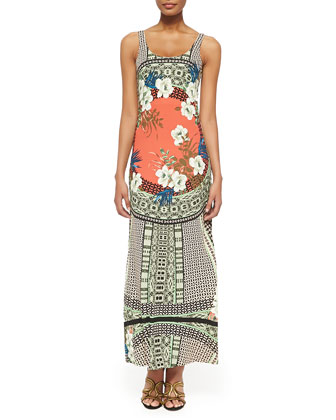 Tank Maxi Dress with Tribal Print