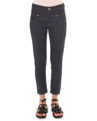 Drop-Yoke Ankle Jeans