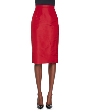 Crepe Pencil Skirt