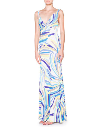 Side-Ruched Tank Maxi Dress