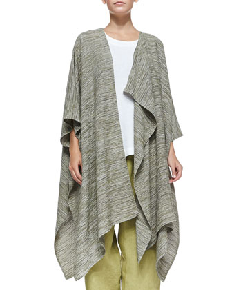 Long Draped Asymmetric Jacket