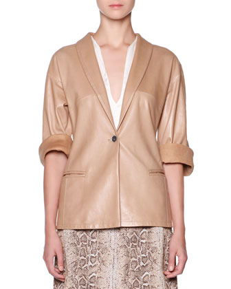 Lambskin One-Button Jacket