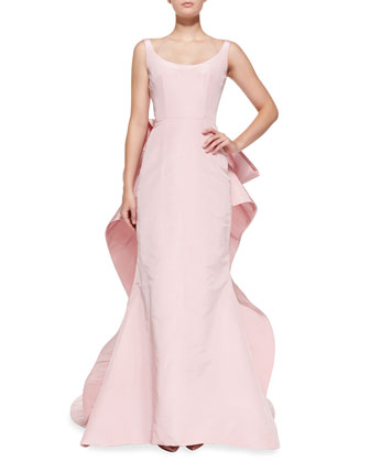 Sleeveless Oversize Bow-Back Gown