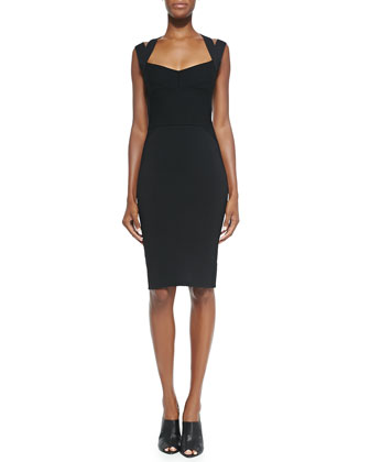Sweetheart-Neck Dress W/ Double Straps