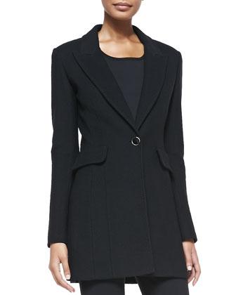 Nouveau Boucle Peaked-Lapel Jacket
