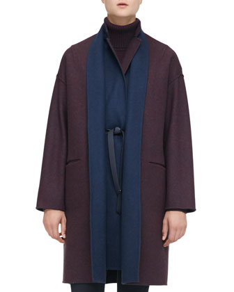 Layered Reversible Coat, Cashmere Turtleneck Sweaterdress & Devin Stretch ...