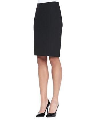 Nouveau Boucle Knit Pencil Skirt