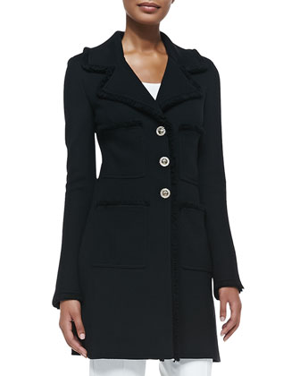 Milano Pique Knit Topper Jacket, Rib Knit Scoop-Neck Sleeveless Shell, ...