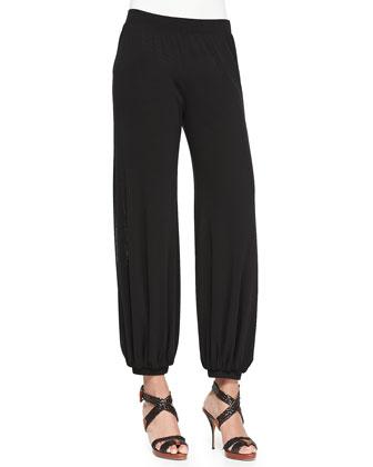 Printed Patchwork Tie Cardigan, Tulle Tank Top & Tulle Genie Pants