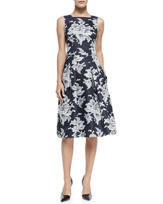 Large Lace-Print Gazaar Cocktail Dress