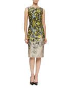 Iris Jacquard Sheath Dress
