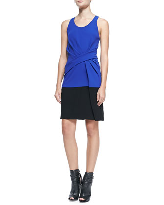 Sleeveless Colorblock Tank Dress