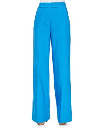 Wide-Leg Pants with Elastic Waist