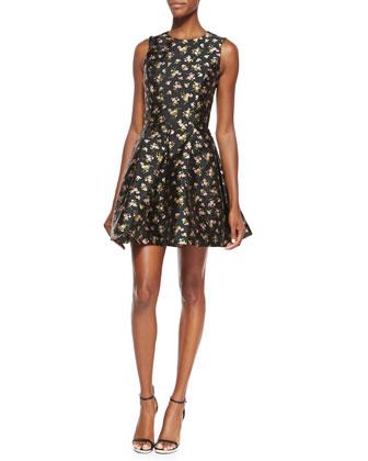 Floral Flirt Dress & Jeweled Leather Loop Belt