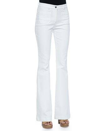 Bell-Bottom Jeans, White