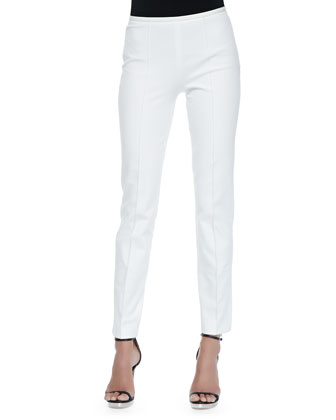 Embellished Boat-Neck Tunic & Side-Zip Skinny Pants