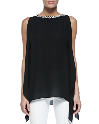 Embellished Boat-Neck Tunic