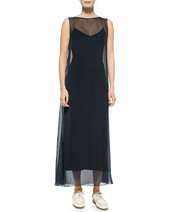 Chiffon Sleeveless Dress w/ Cami