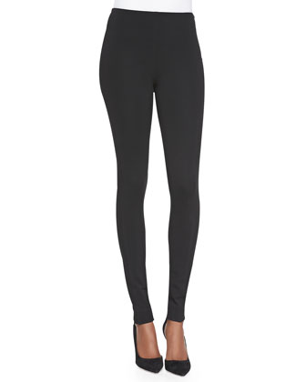 Side-Zip Leggings, Black