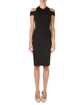 Swangrove Harness-Strap Knit Sheath Dress