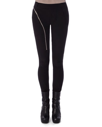 Aircut Moderate-Rise Leggings in Stretch Knit, Tunica Samincata Sleeveless ...
