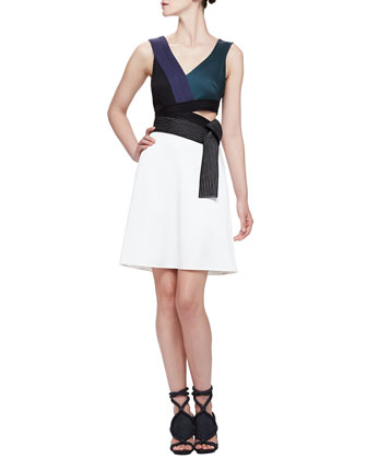 Judo Belted Cutout Dress