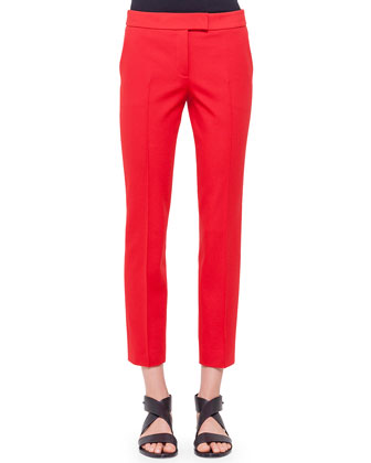 Frankie Slim-Fit Ankle Pants, Rouge