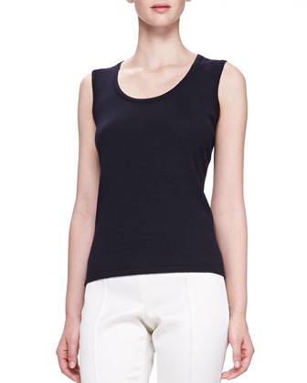 Scoop-Neck Tank, Navy