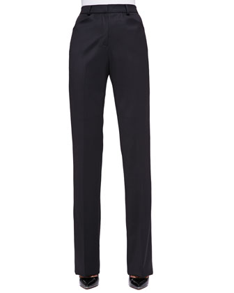 Stretch-Wool Twill Slim Pants