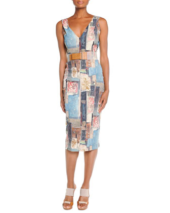 Stencil Patchwork Dress