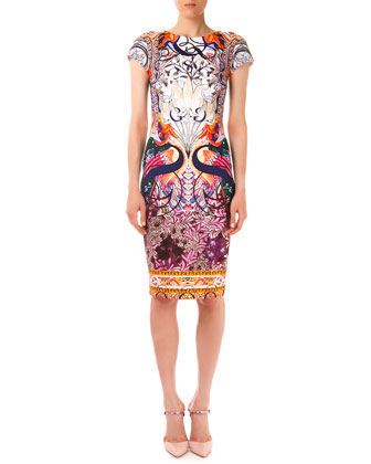 Sirene Macu Matadi Printed Scuba Sheath Dress