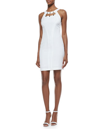 Metal Hardware-Detailed Cutout Sheath Dress