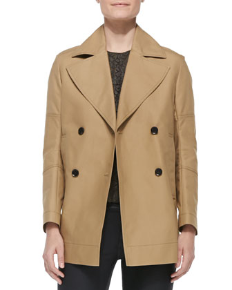 Double-Breasted Swing Coat