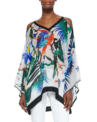 Alize-Print Handkerchief Short Tunic