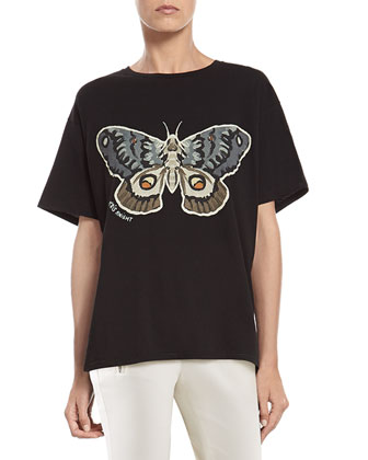 Kris Knight Butterfly Print T-Shirt