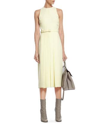 Pale Yellow Light Matte Cady Dress
