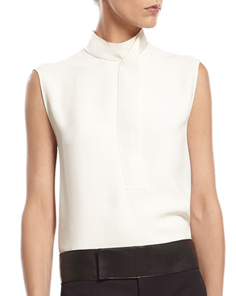 White Silk Cady Shirt