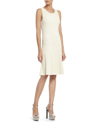 Pearl Viscose Sleeveless Dress