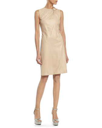 Pale Tan Soft Napa Knot Dress
