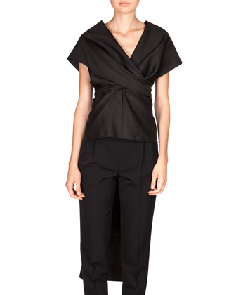 Honan Frances Wrap Top, Silk Poplin Zeenu Top & Wool Poplin Patton ...