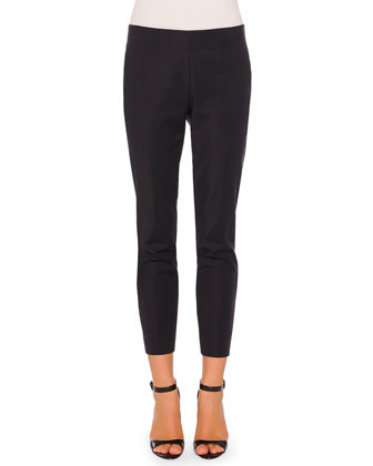 New Audrey Slim-Fit Side-Zip Pants, Navy