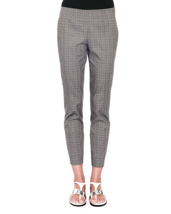 New Audrey Micro-Circle Jacquard Pants, Dark Navy