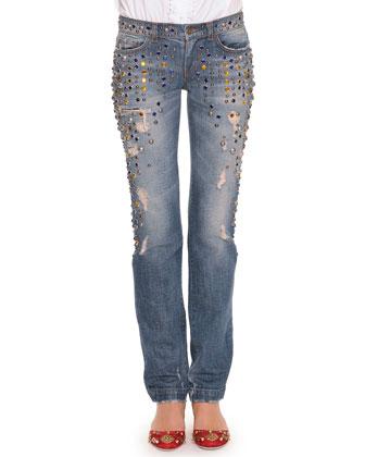 Crystal Embellished Jeans