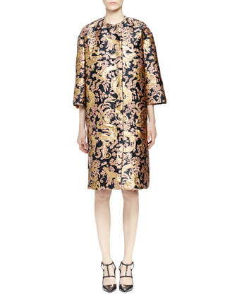 Golden Monkey Brocade Coat