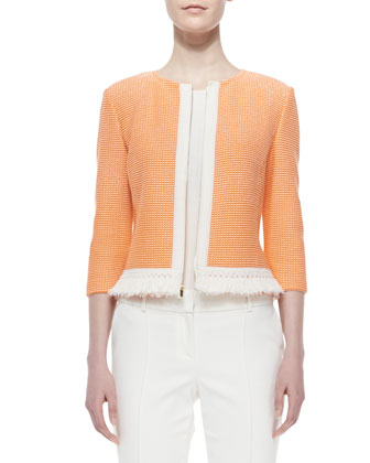 Dash-Knit 3/4-Sleeve Jacket