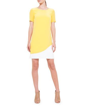 Two-Tone Silk Dress