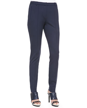 Structured Low-Rise Stovepipe Pants